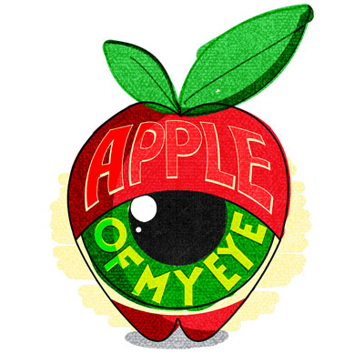 Editorial Idiom Illustration – Apple of my eye