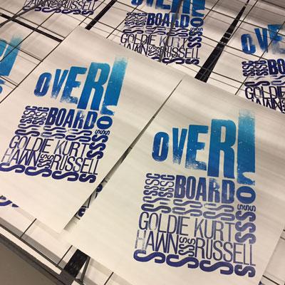 Overboard Letterpress Poster