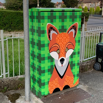 Dublin Canvas Project: Frolicking Fox