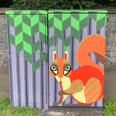 Dublin Canvas Project 2020: Sunset Squirrel
