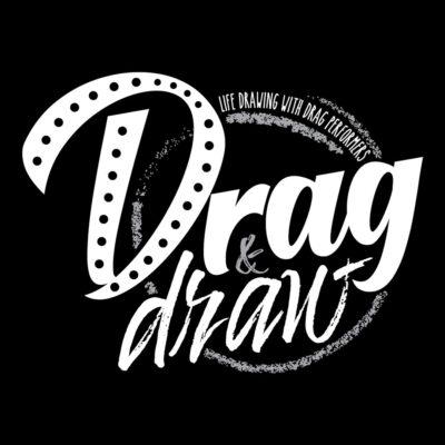 Drag & Draw Logo White - 1080 x1080
